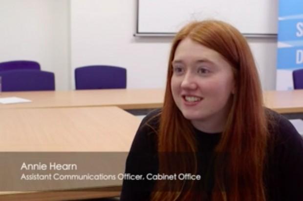 Screenshot of Annie talking to camera